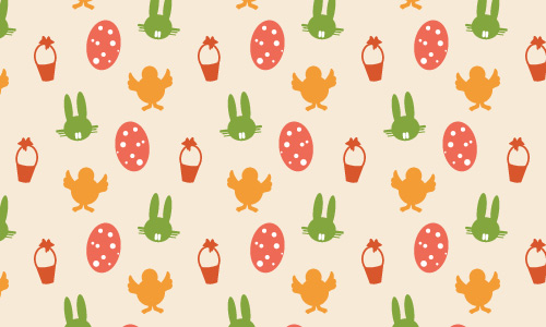Bunny egg chick free animal repeat seamless pattern