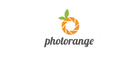Camera photography orange logo design