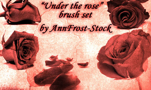 Under the rose brush set