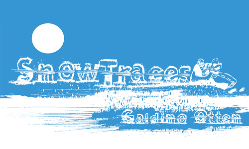 Ski skiing traces snowy snow free fonts