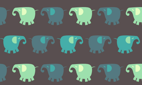 Elephant free animal repeat seamless pattern