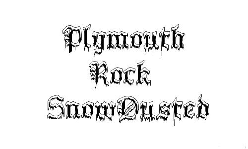 Freeze frozen snowy snow free fonts