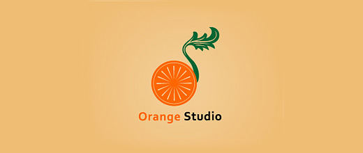 Vintage orange logo design