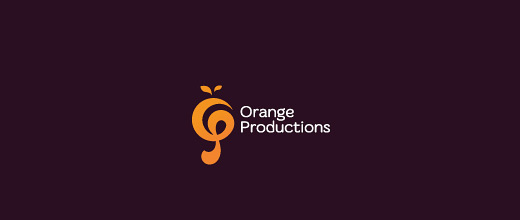 Artistic orange logo design