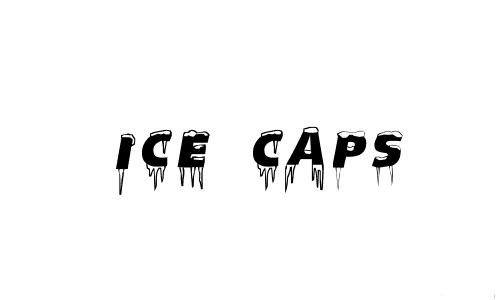 Ice caps snowy snow free fonts