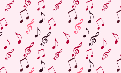 Pink free musical repeat seamless pattern