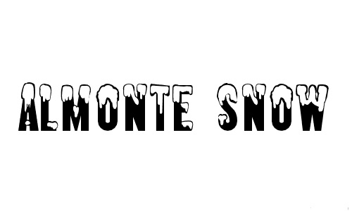 Almonte snowy snow free fonts