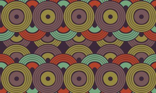 Disc free musical repeat seamless pattern