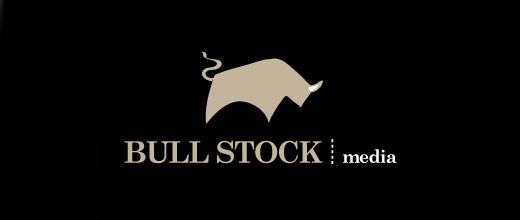 Minimal bull logo designs