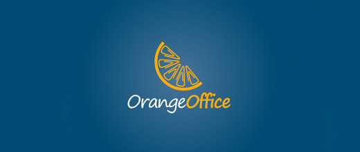 Office orange logo design