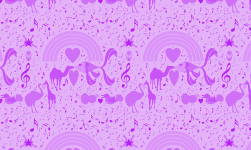 Lavander free musical repeat seamless pattern