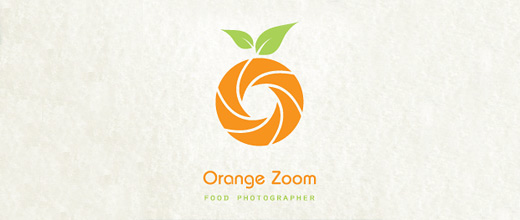 Camera photography picture food orange logo design