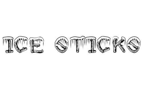 Stick snowy snow free fonts