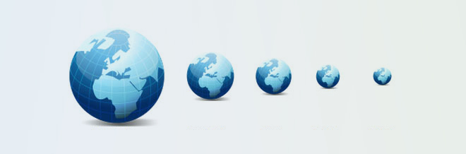 26 Stylized Globe Icon for Free Download