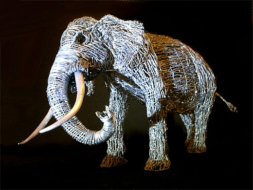 Elephant wire sculpture