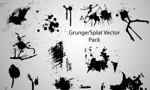 free grunge splatter vector pack