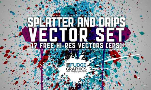 17 Free Splatter & Drips Vectors
