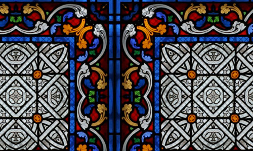 Flower stained glass textures