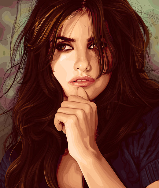 Penelope cruz celebrity vector vexel illustrations