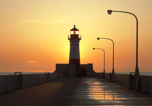 Sunset lighthouse photography