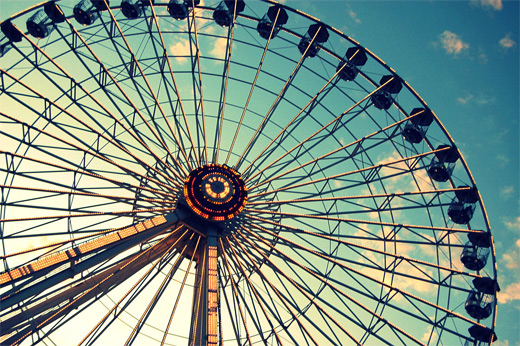 Vintage ferris wheel photography