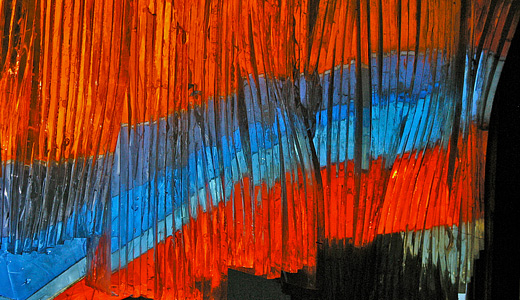 Red blue laminated stained glass textures