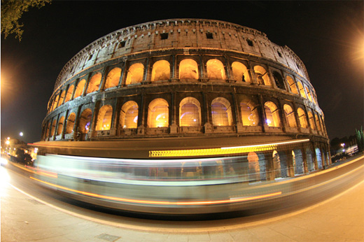 Coliseum fisheye view fish eye photography