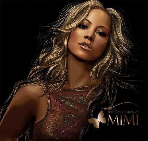 Mariah carey celebrity vector vexel illustrations