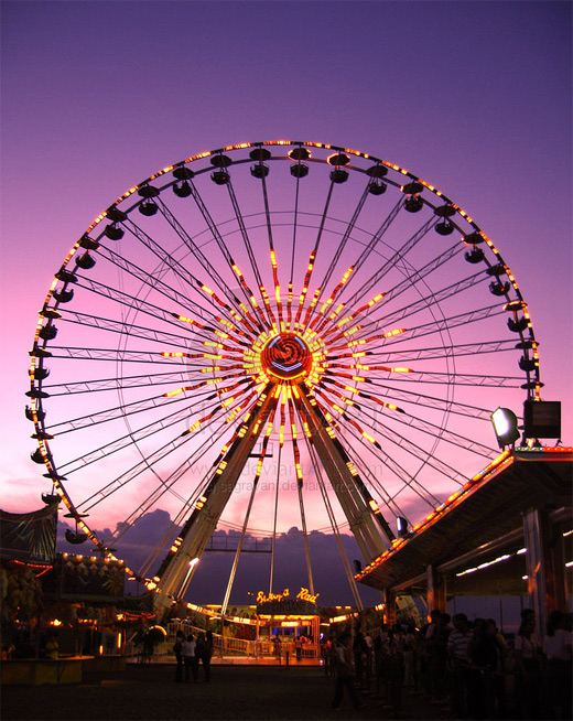 Carnival purple sky ferris wheel photography