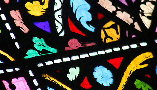 Colorful stained glass textures