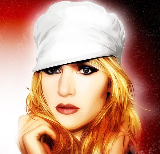 Kate winslet celebrity vector vexel illustrations
