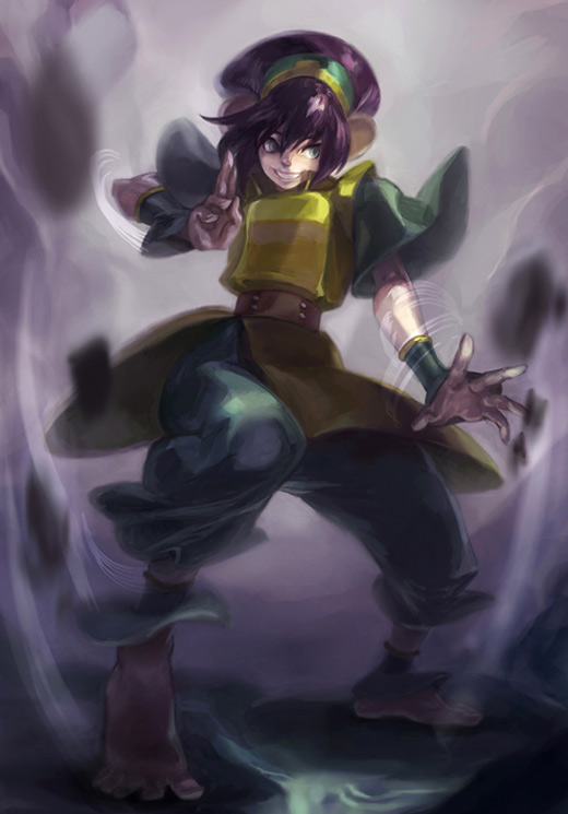 Power toph avatar artwork illustrations