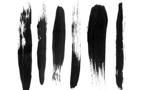 Free Hi-res Black Acrylic Photoshop Brushes