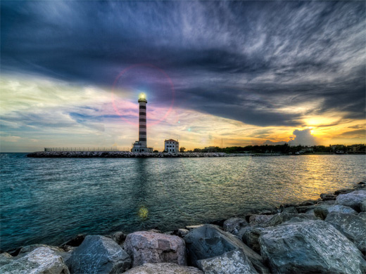 Amazing breathtaking lighthouse photography