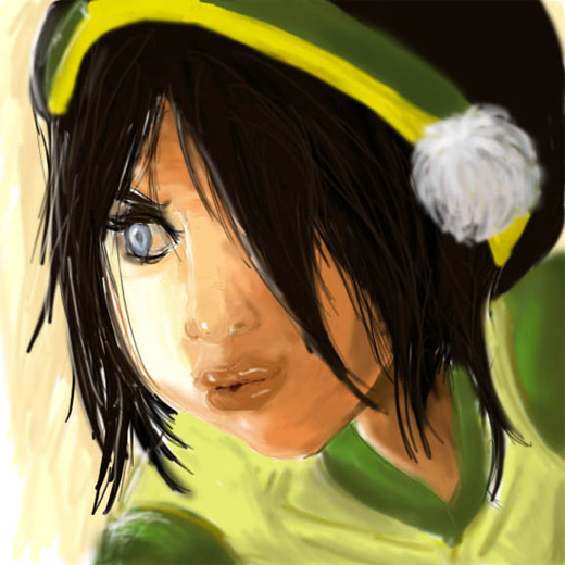 Digital brush cool toph avatar artwork illustrations