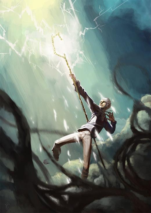 Power light jack frost artwork illustrations
