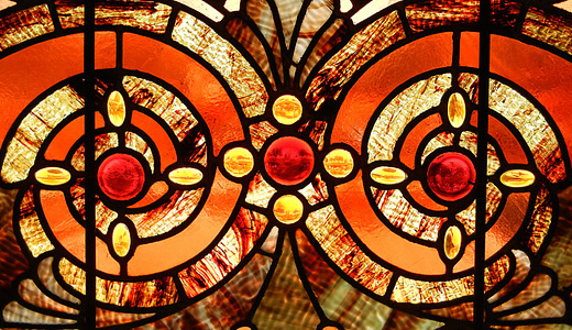 Orange grunge stained glass textures