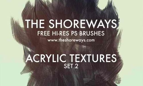 Free Hi-Res Photoshop Brushes: Acrylic Textures