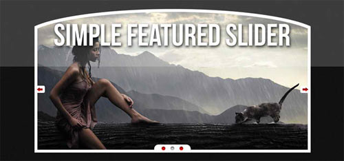 Simple Featured Slider (PSD)