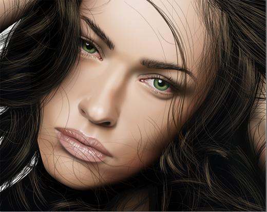 Megan fox celebrity vector vexel illustrations