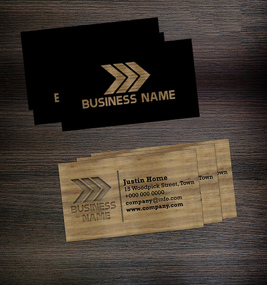A collection of creative wooden business cards naldz graphics wooden business card template company wood cheaphphosting Images