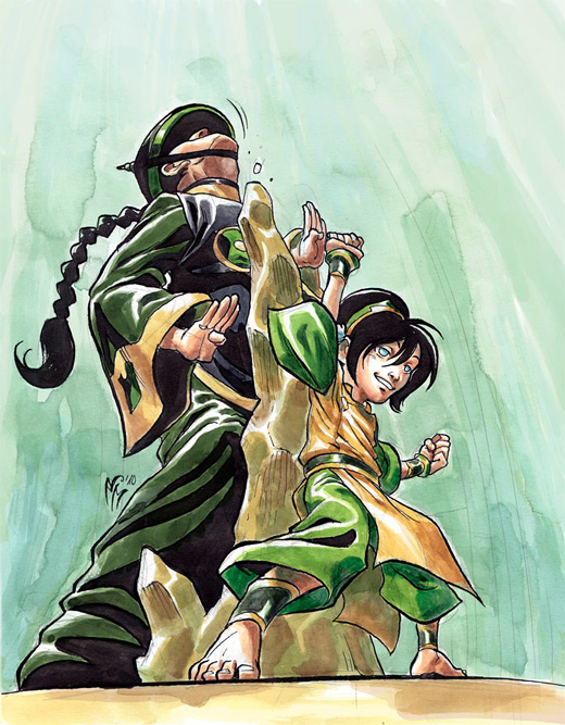 Punch action toph avatar artwork illustrations