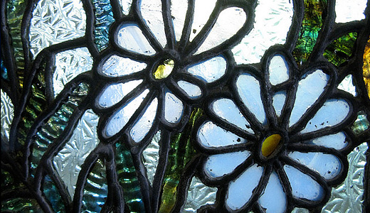 Daisy flower stained glass textures