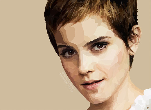 Emma watson celebrity vector vexel illustrations