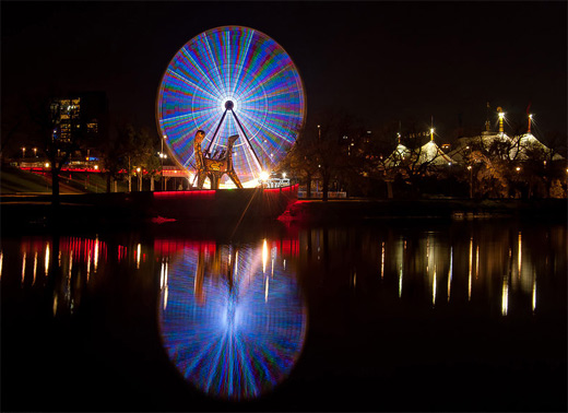 Melbourne australia ferris wheel photography