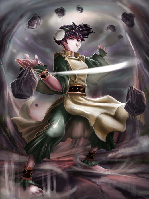 Strong powerful toph avatar artwork illustrations