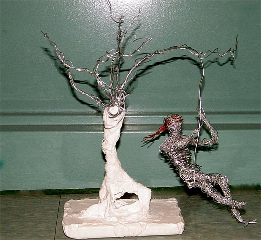 Tarzan wire sculpture