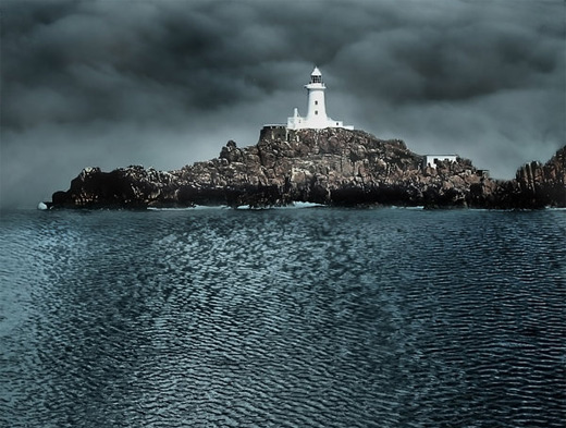 Stormy lighthouse photography