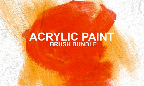 Realistic Acrylic Paint Brush Stroke Brushes (Free)