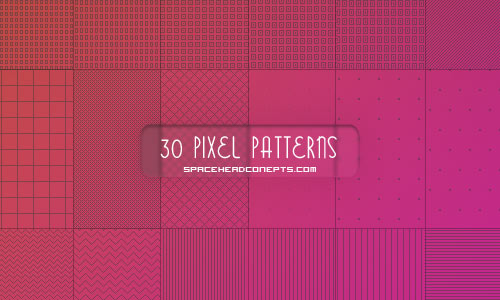 30 PIXEL PATTERNS FOR PHOTOSHOP (PAT)